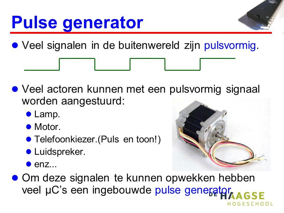 Pulse generator Veel signalen in de buitenwereld zijn pulsvormig.
