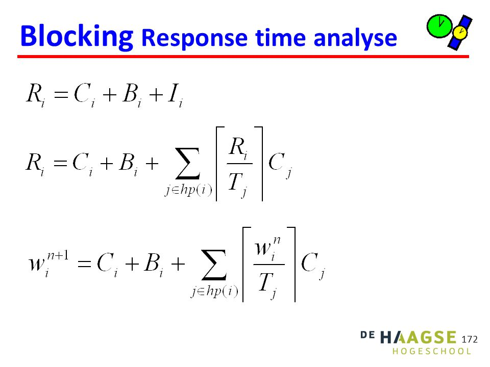 172 Blocking Response time analyse