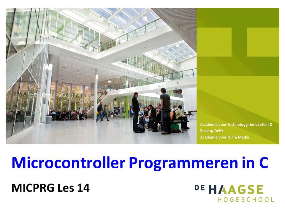 MICPRG Les 14 Microcontroller Programmeren in C