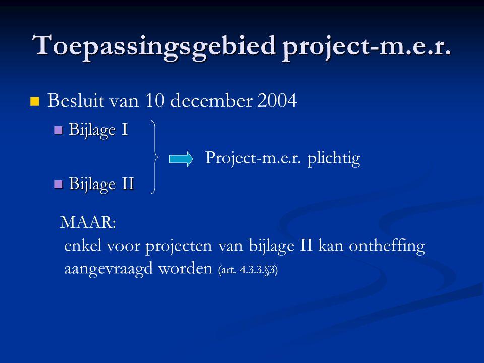 Toepassingsgebied project-m.e.r.