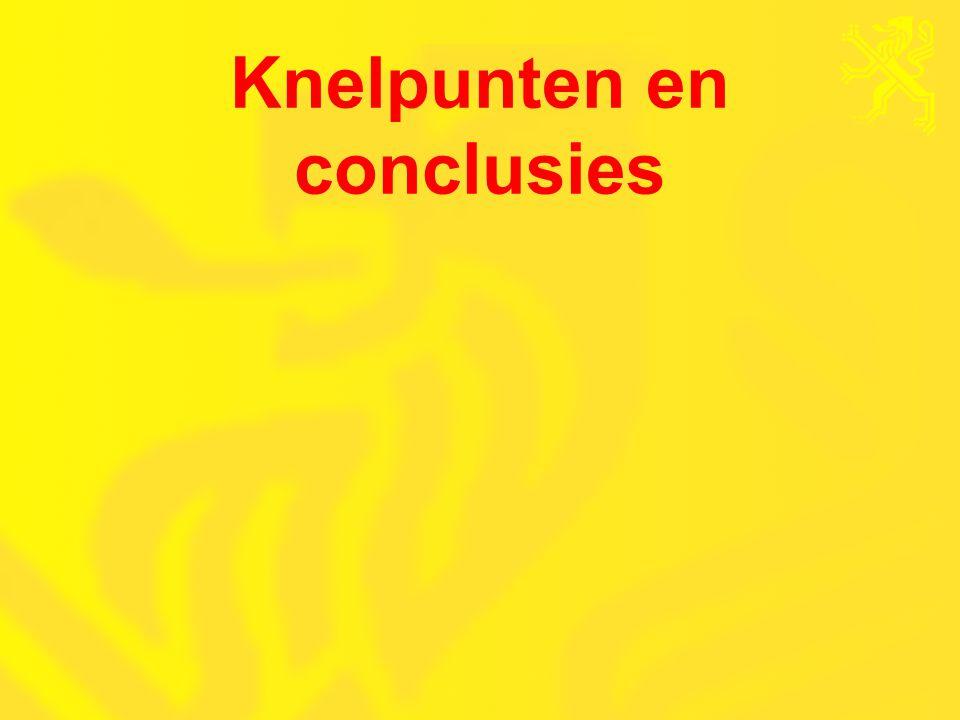 Knelpunten en conclusies