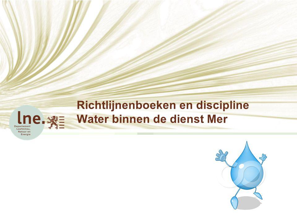 Richtlijnenboeken en discipline Water binnen de dienst Mer