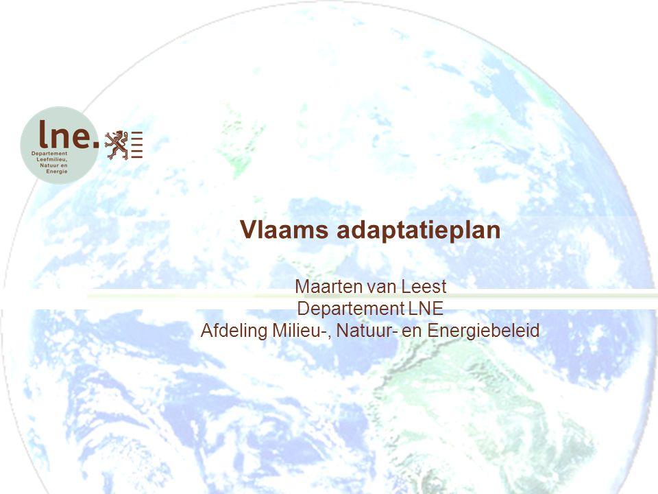 Het Vlaams AdaptatieplanMaarten van Leest Antwerpen 26 mei 2011 Inhoudsopgave 1.Aanleiding 2.De Nationale Adaptatiestrategie (NAS) 3.Waarom een Vlaams Adaptatieplan.