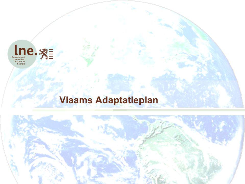 Het Vlaams AdaptatieplanMaarten van Leest Antwerpen 26 mei 2011 Primaire doelen Een beeld te krijgen van hoe kwetsbaar Vlaanderen is voor de klimaatveranderingen De weerbaarheid van Vlaanderen tegen de klimaatverandering te verhogen.