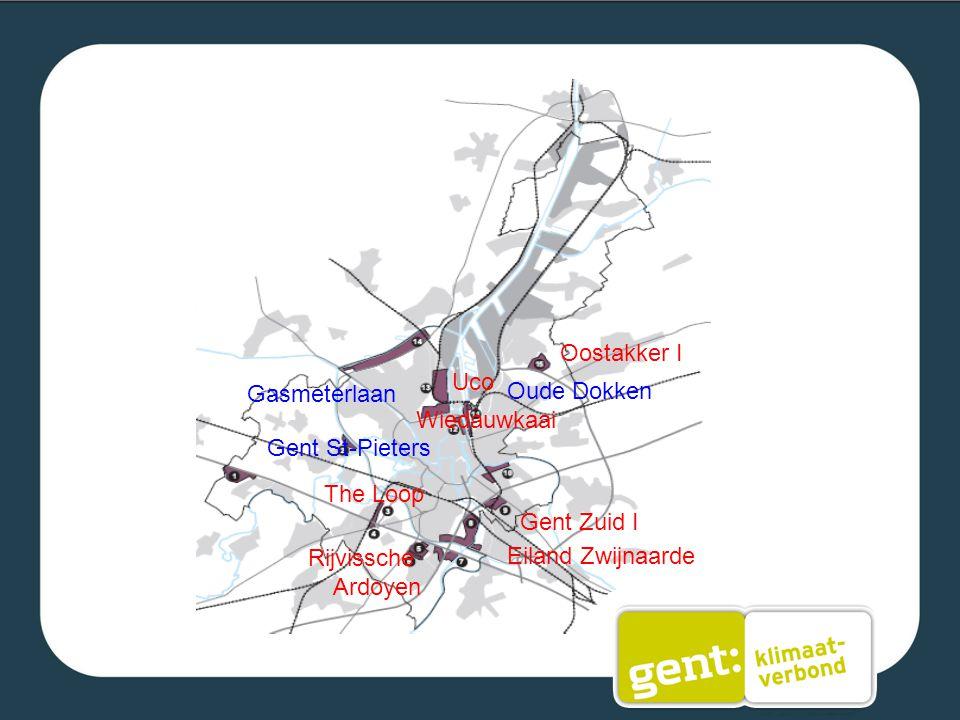 Eiland Zwijnaarde Oostakker I Wiedauwkaai The Loop Gent Zuid I Uco Rijvissche Ardoyen Gasmeterlaan Oude Dokken Gent St-Pieters