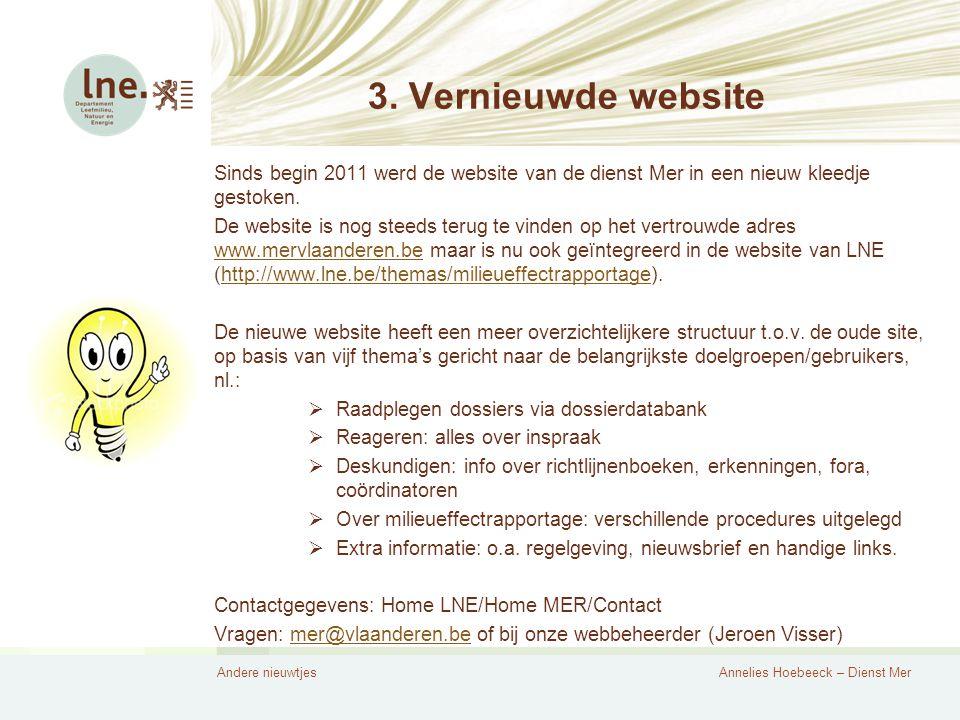 Andere nieuwtjesAnnelies Hoebeeck – Dienst Mer 3.