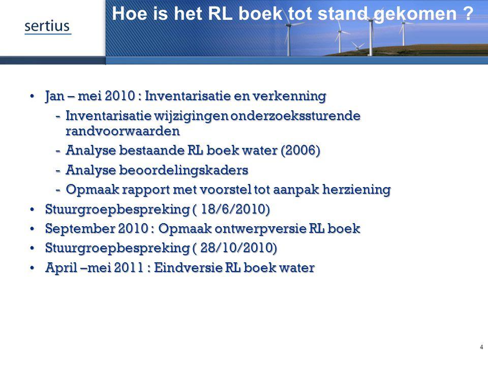 Hoe is het RL boek tot stand gekomen ? Jan – mei 2010 : Inventarisatie en verkenningJan – mei 2010 : Inventarisatie en verkenning Inventarisatie wijz