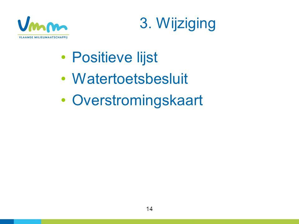 14 3. Wijziging Positieve lijst Watertoetsbesluit Overstromingskaart