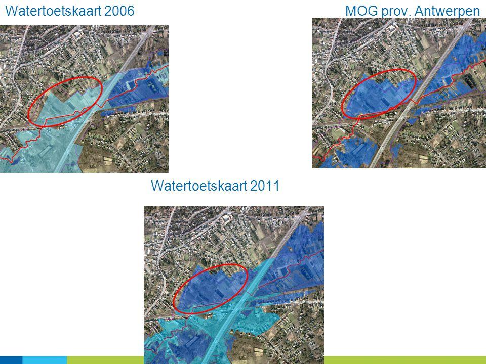 25 Watertoetskaart 2006MOG prov. Antwerpen Watertoetskaart 2011