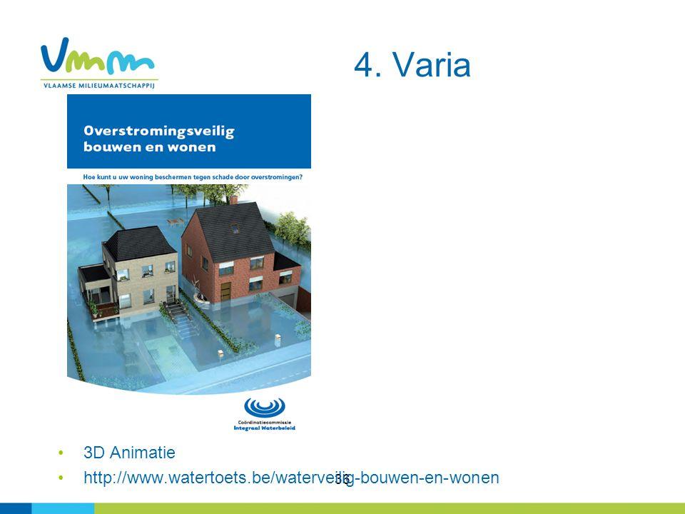 36 3D Animatie http://www.watertoets.be/waterveilig-bouwen-en-wonen 4. Varia