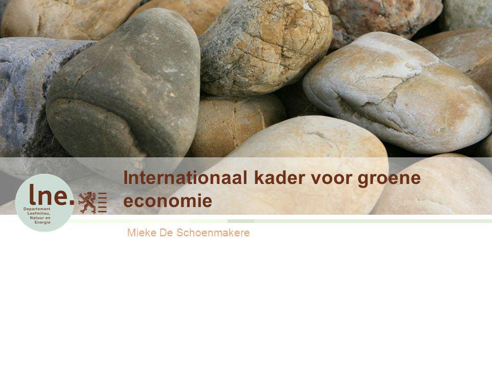 Internationaal kader voor groene economie Mieke De Schoenmakere