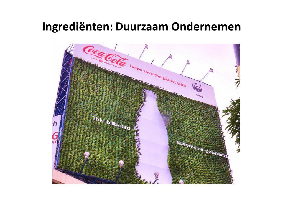 Ingrediënten: Duurzaam Ondernemen