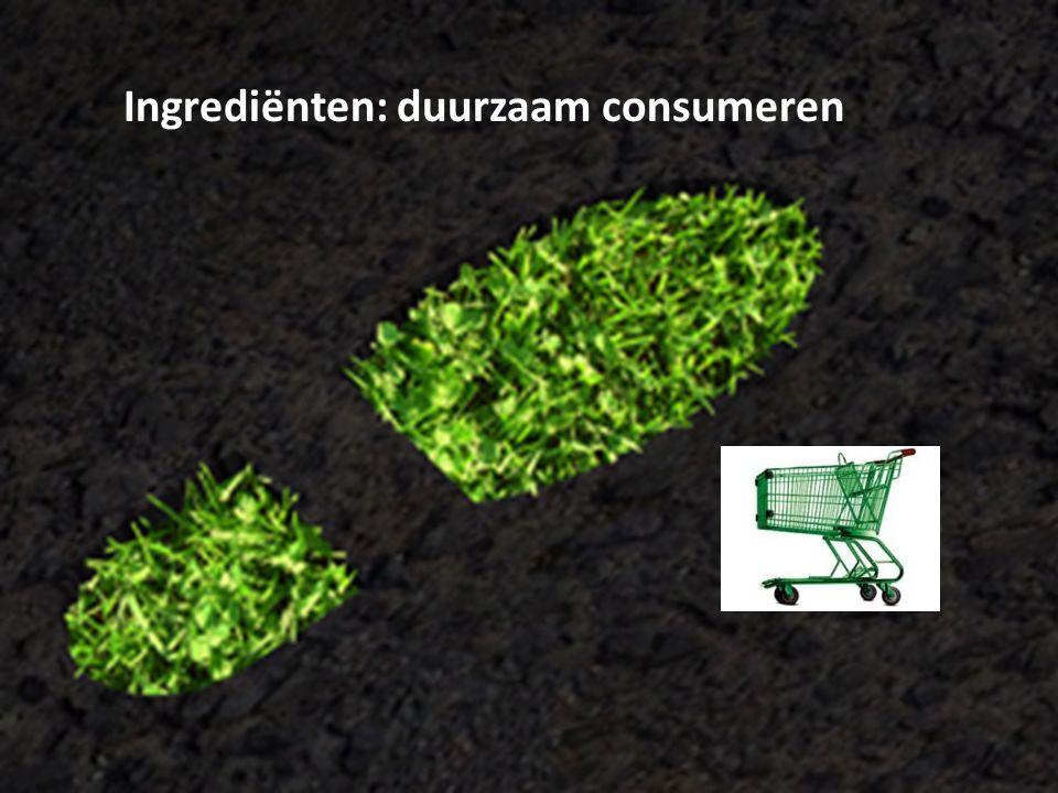 Ingrediënten: duurzaam consumeren