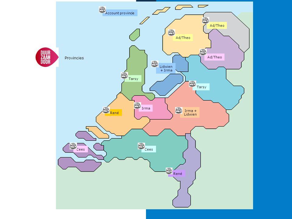 René Account provincie Lidwien + Irma Tarsy Ad/Theo Irma + Lidwien Irma Cees Ad/Theo Cees Provincies Ad/Theo
