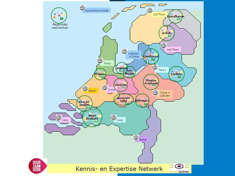 West Brabant Almere H'meer Rivieren land Drecht- steden Nijmegen Twente Steden driehoek Assen Overijssel Zee- Wolde Regionale netwerken Rene Account p