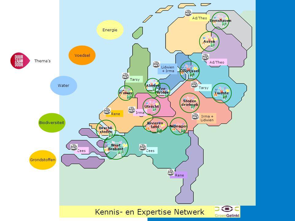 West Brabant Almere H'meer Rivieren land Drecht- steden Nijmegen Twente Steden driehoek Assen Overijssel Zee- Wolde Rene Lidwien + Irma Tarsy Ad/Theo