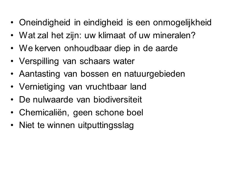 3.De sociale en economische pil van mijnbouw Huidige mijnbouw niet enkel ecologisch onhoudbaar.