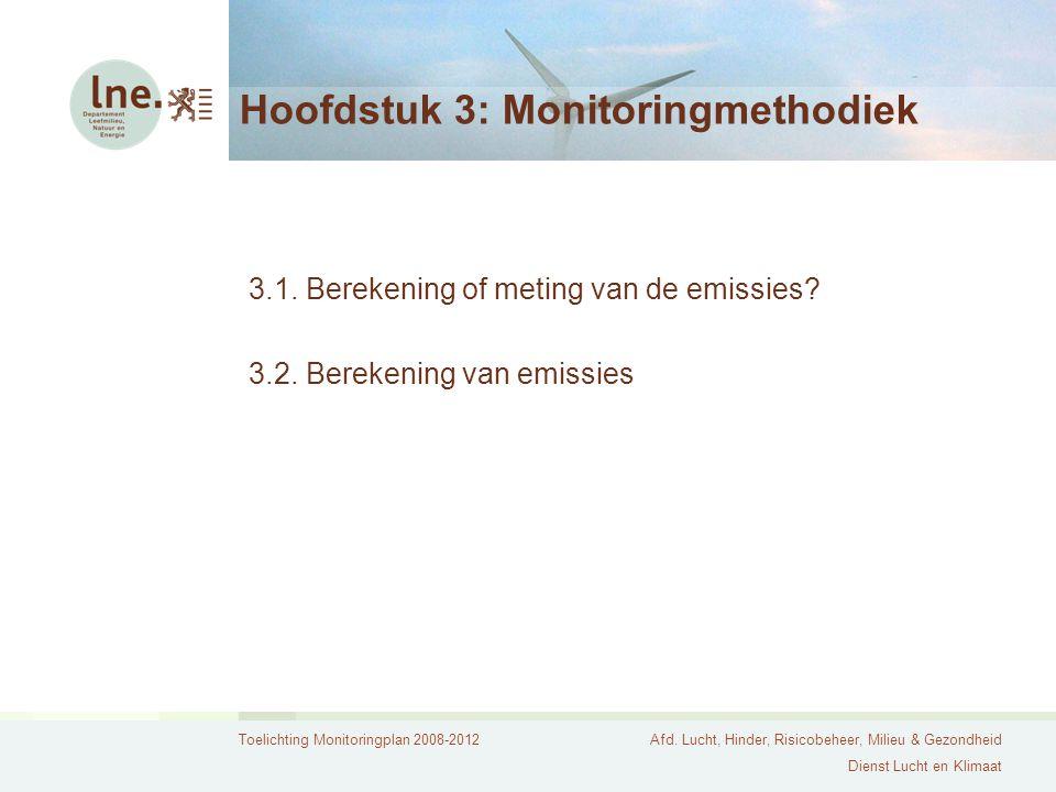 Toelichting Monitoringplan 2008-2012Afd. Lucht, Hinder, Risicobeheer, Milieu & Gezondheid Dienst Lucht en Klimaat Hoofdstuk 3: Monitoringmethodiek 3.1