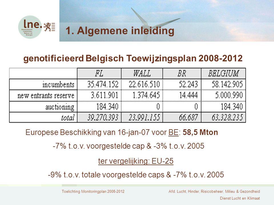 Toelichting Monitoringplan 2008-2012Afd. Lucht, Hinder, Risicobeheer, Milieu & Gezondheid Dienst Lucht en Klimaat 1. Algemene inleiding genotificieerd