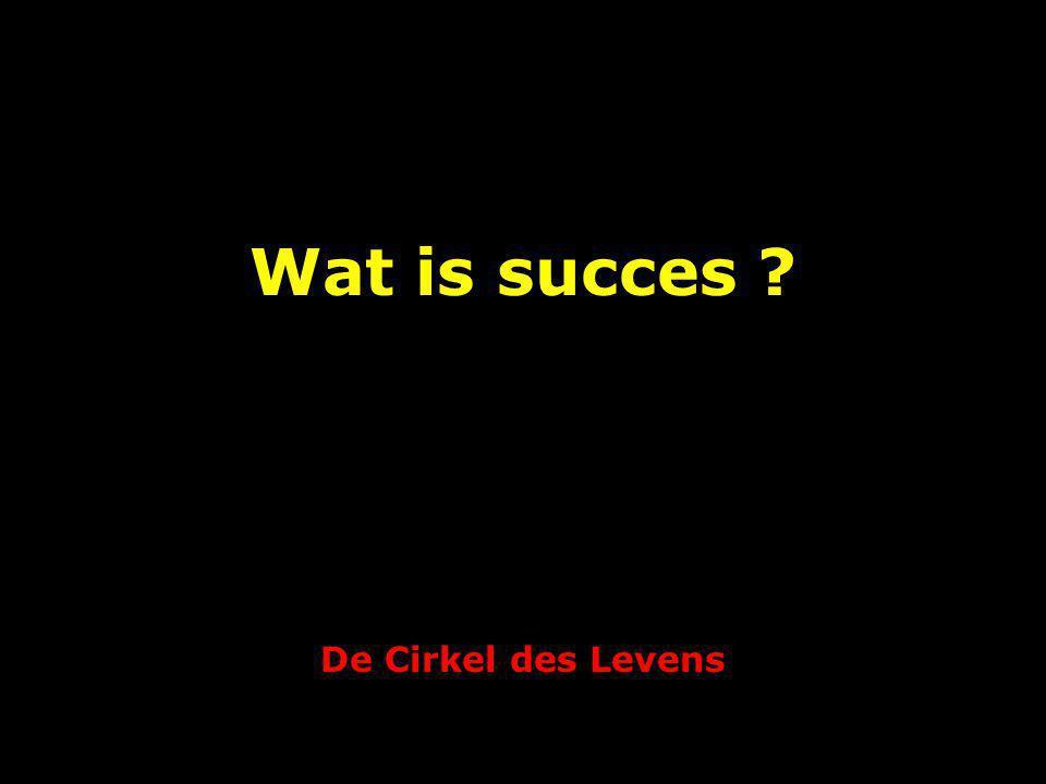 De Cirkel des Levens Wat is succes ?