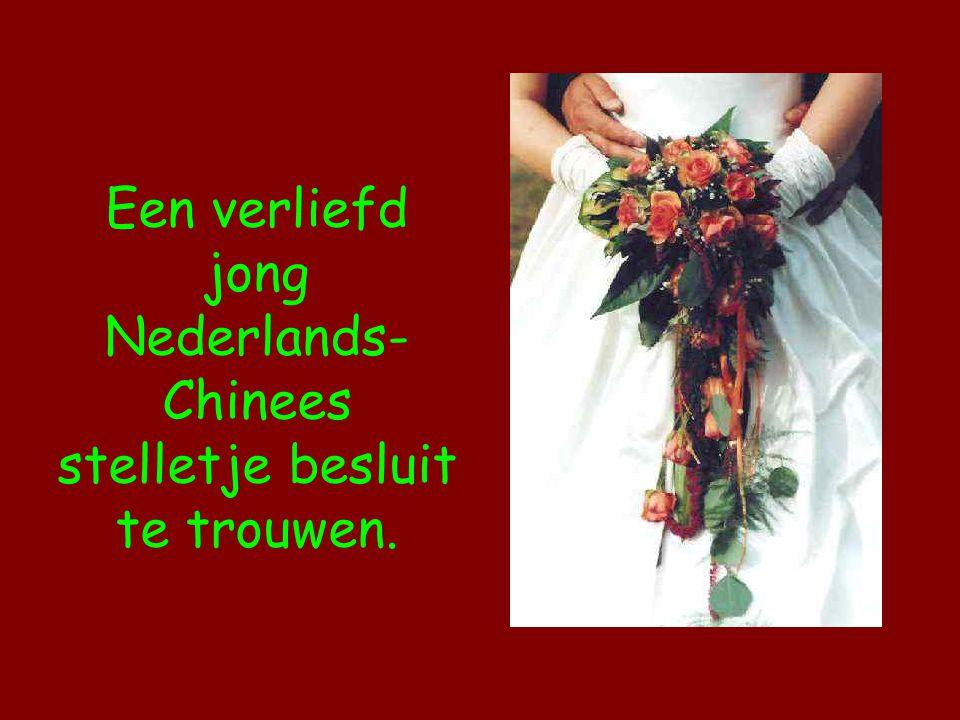 Een verliefd jong Nederlands- Chinees stelletje besluit te trouwen.