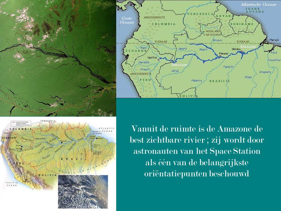 Vanuit de ruimte is de Amazone de best zichtbare rivier ; zij wordt door astronauten van het Space Station als één van de belangrijkste oriëntatiepunten beschouwd