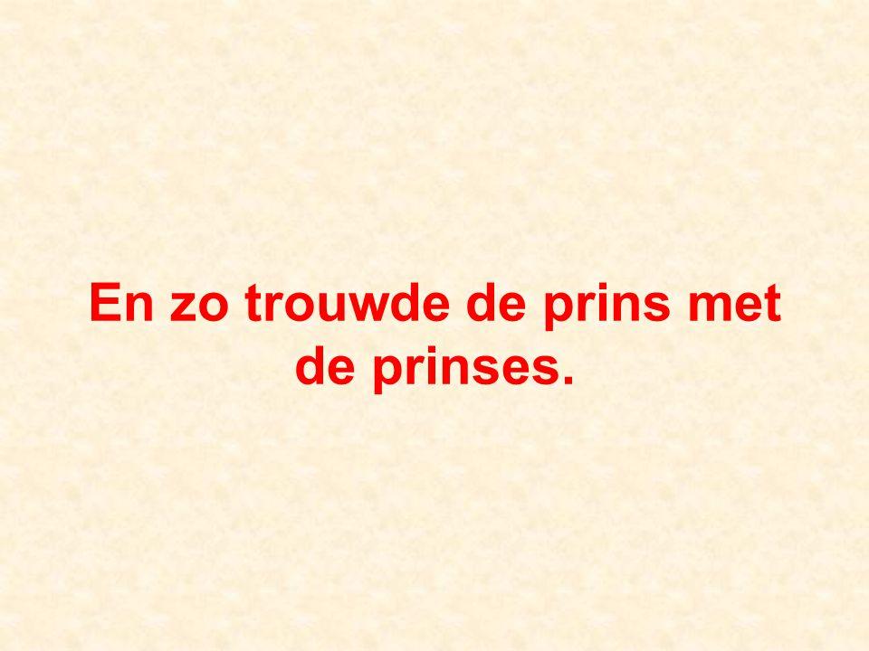 En zo trouwde de prins met de prinses.