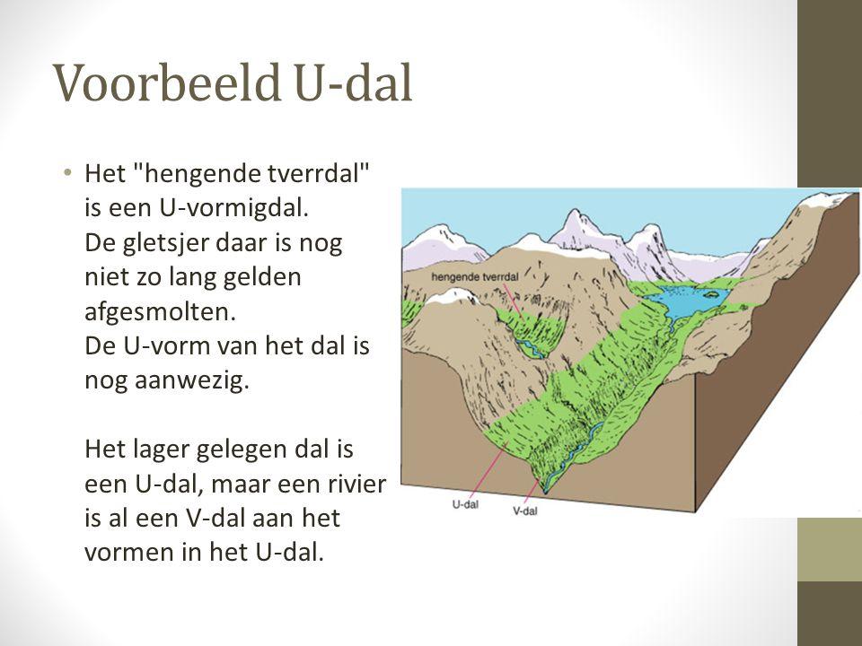 Voorbeeld U-dal Het hengende tverrdal is een U-vormigdal.