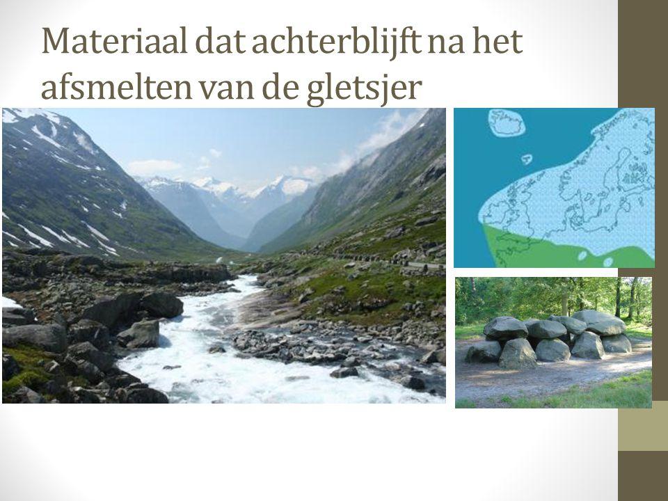 Materiaal dat achterblijft na het afsmelten van de gletsjer