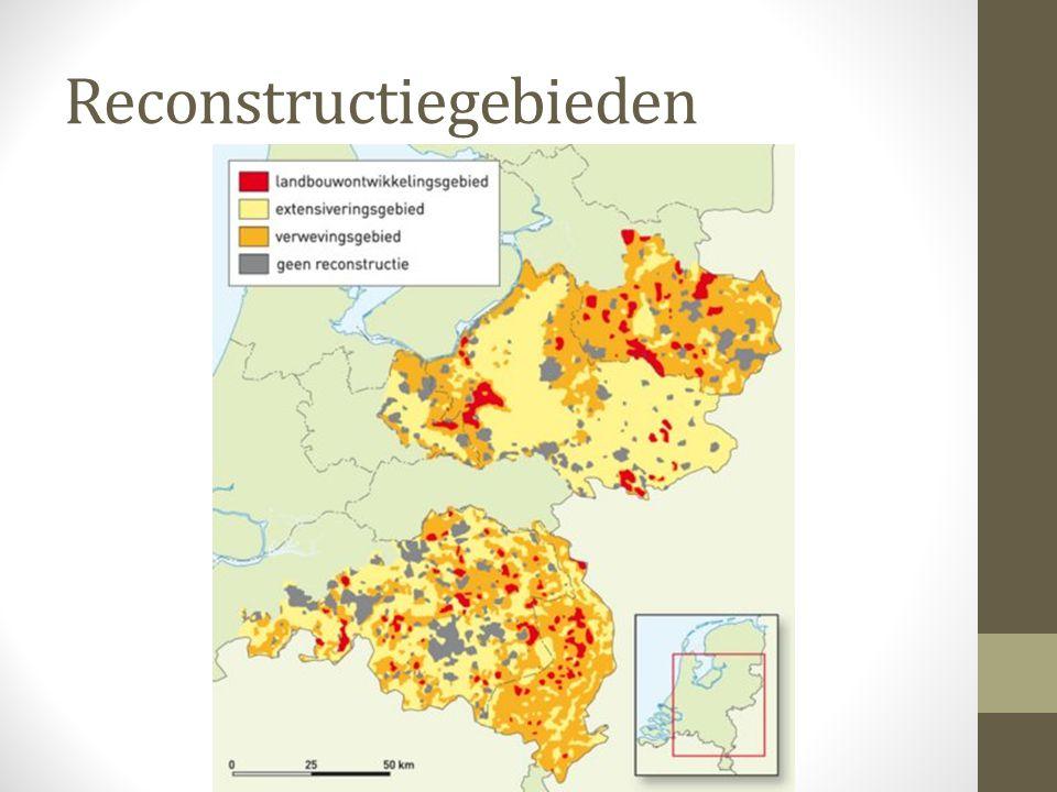 Extensiveringsgebieden In extensiveringsgebieden wordt dit juist afgeremd omdat ze te dicht bij dorpen of natuurgebieden liggen.