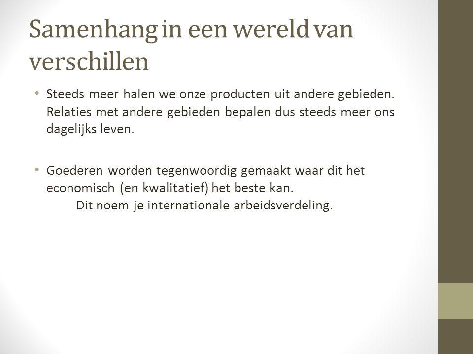 Internationale arbeidsverdeling Internationale arbeidsverdeling: Basis van globalisering en internationale handel.