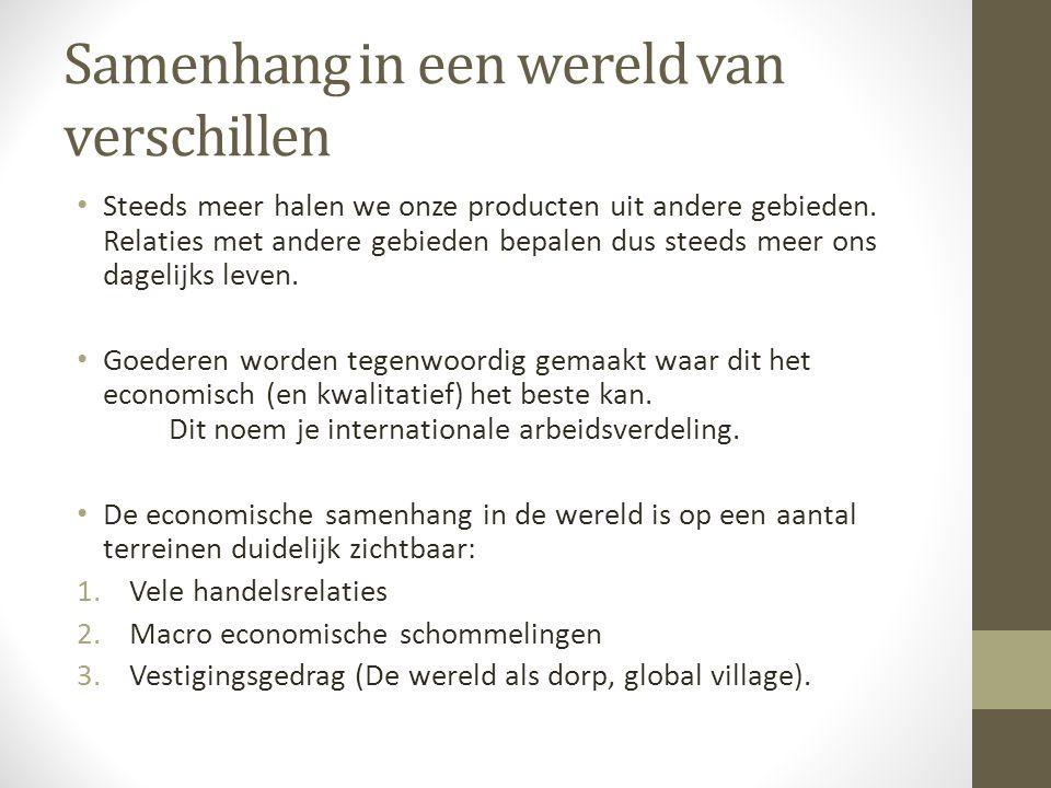 Samenhang in een wereld van verschillen Steeds meer halen we onze producten uit andere gebieden.