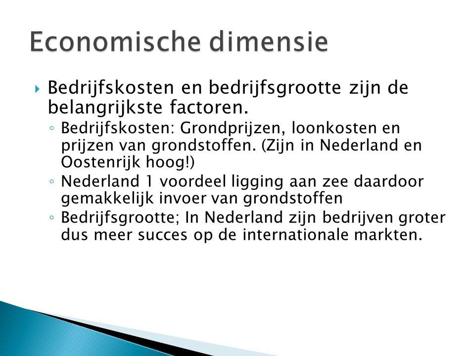  In Nederland heb je de zogenaamde kleine kernen problematiek.