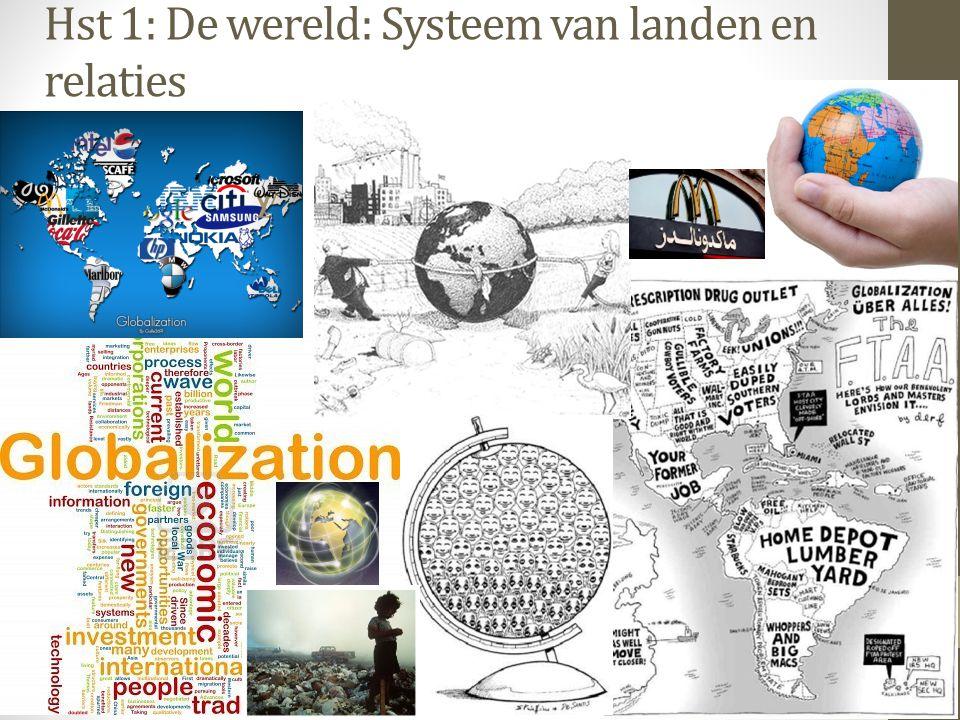 Hst 1: De wereld: Systeem van landen en relaties