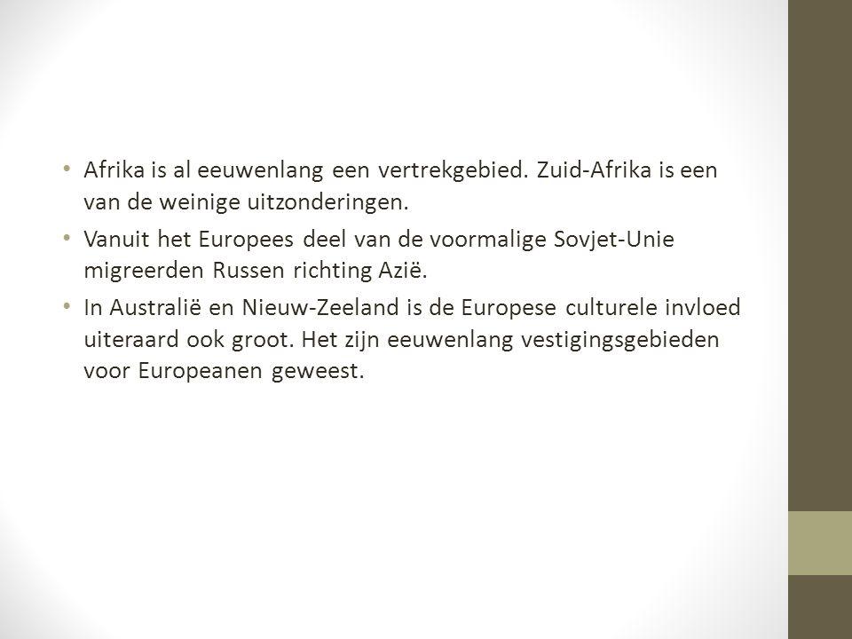 Afrika is al eeuwenlang een vertrekgebied. Zuid-Afrika is een van de weinige uitzonderingen. Vanuit het Europees deel van de voormalige Sovjet-Unie mi