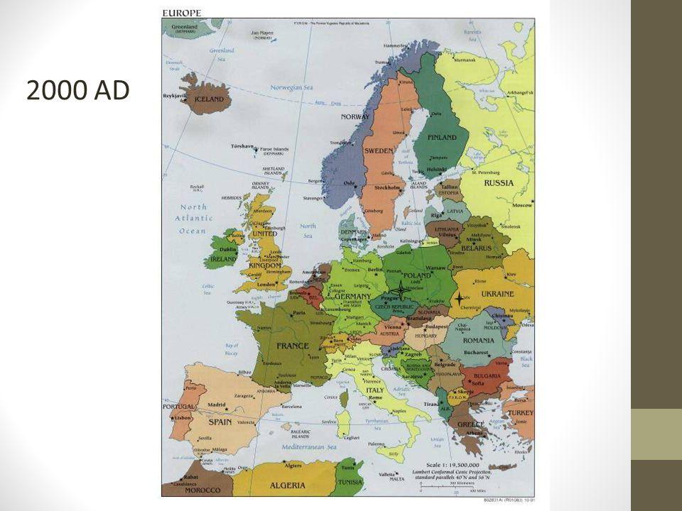 Geopolitiek en staten ► Bij de veranderingen in de staatkundige opbouw van het wereldsysteem speelt het idee van de natiestaat een grote rol.