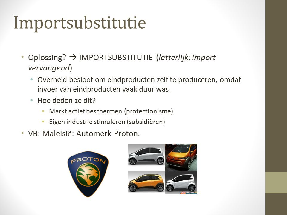 Importsubstitutie Oplossing.