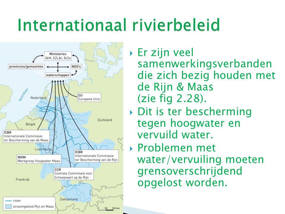 Lange tijd had Nederland grote hinder van de ernstige verontreiniging van de Rijn.