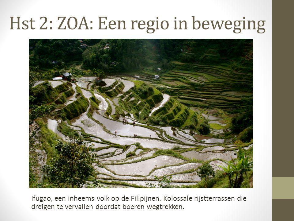 Hst 2: ZOA: Een regio in beweging Ifugao, een inheems volk op de Filipijnen. Kolossale rijstterrassen die dreigen te vervallen doordat boeren wegtrekk