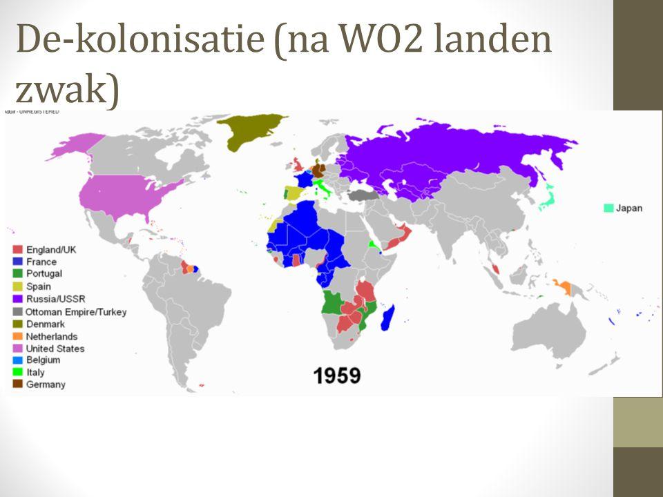 De-kolonisatie (na WO2 landen zwak)