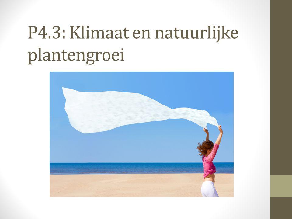 P4.3: Klimaat en natuurlijke plantengroei