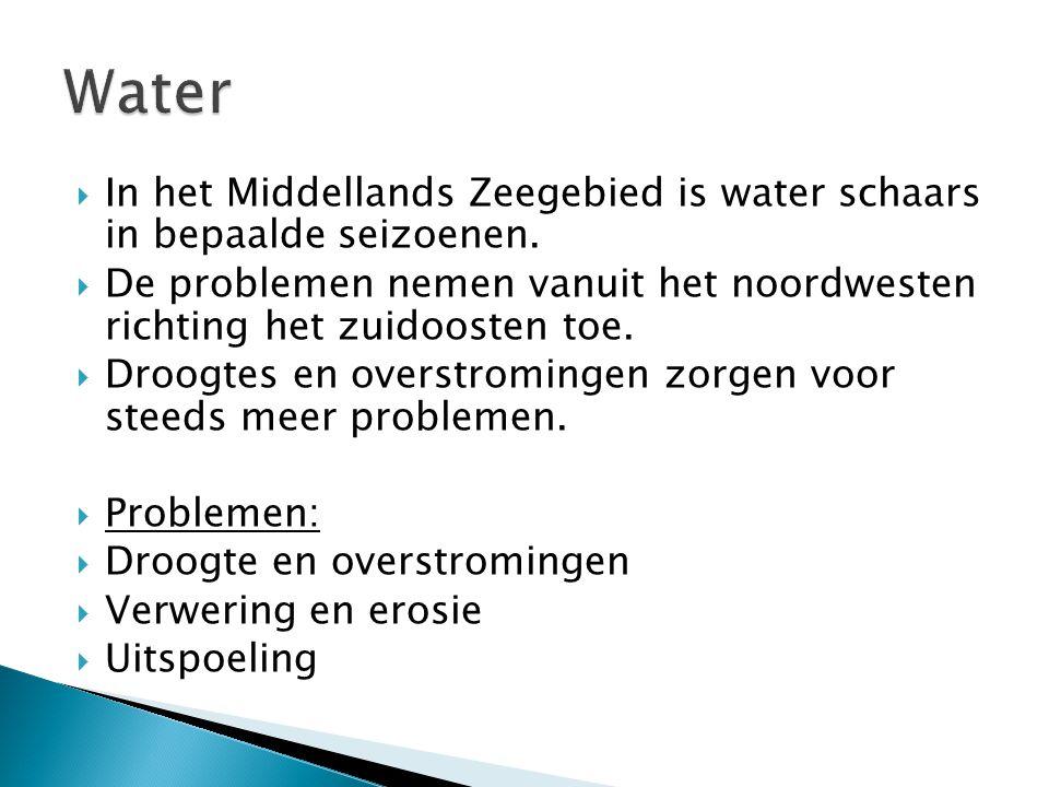  In het Middellands Zeegebied is water schaars in bepaalde seizoenen.  De problemen nemen vanuit het noordwesten richting het zuidoosten toe.  Droo
