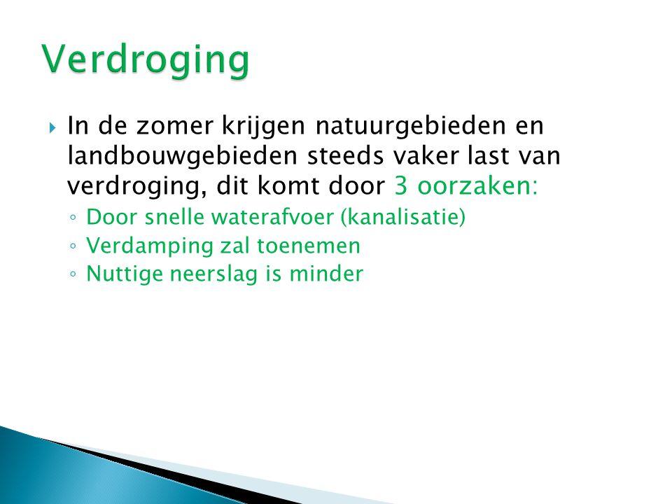  Om overstroming te voorkomen hebben we jarenlang het beleid gehad van: ◦ Normalisatie (rivier vastleggen in een zo gunstige mogelijke loop).