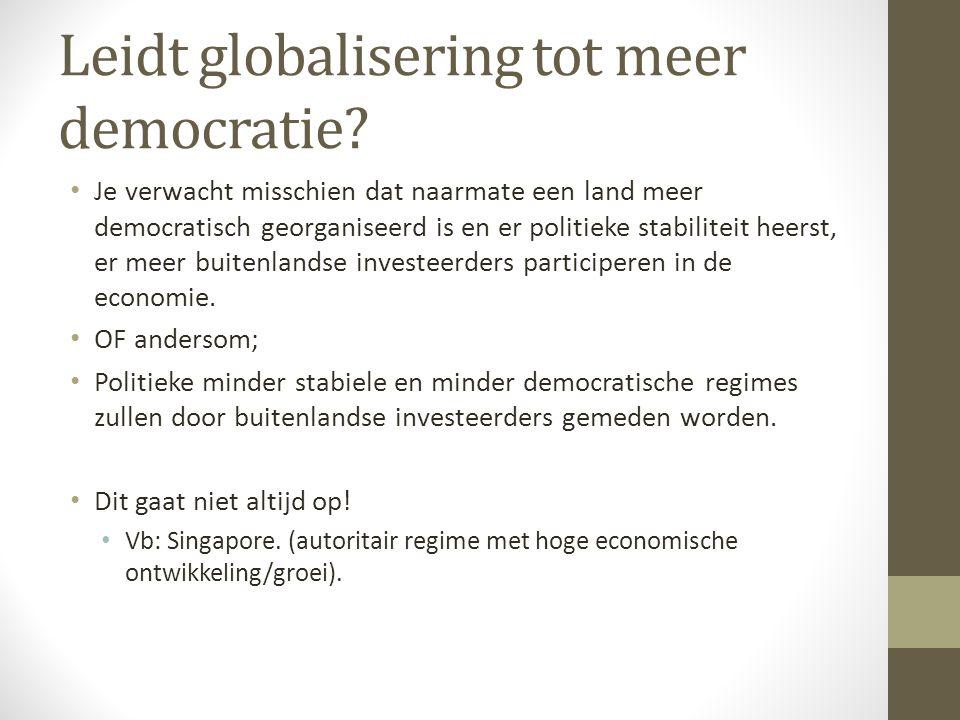 Leidt globalisering tot meer democratie.