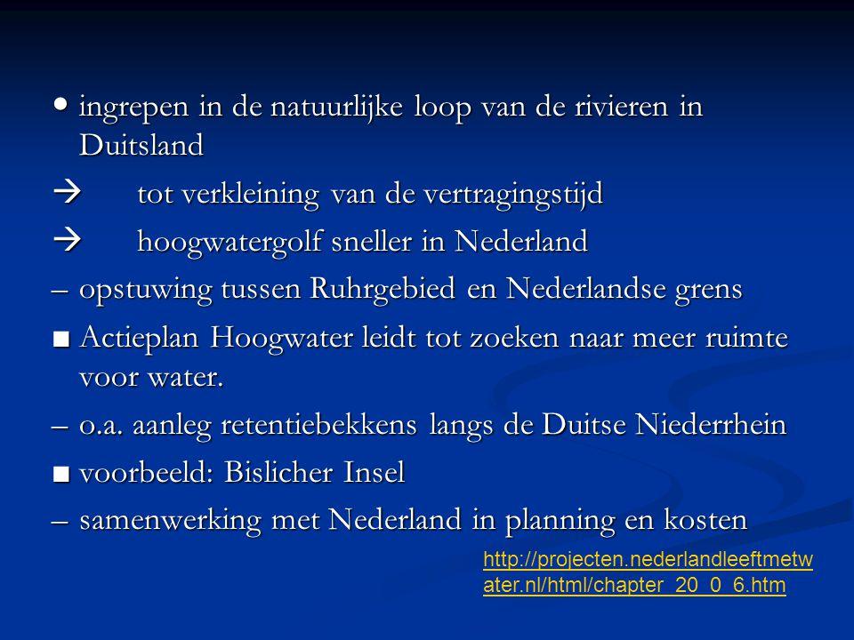 Deelvragen: Wat zijn de hoofdpunten in het tegenwoordige nationale rivierbeleid.