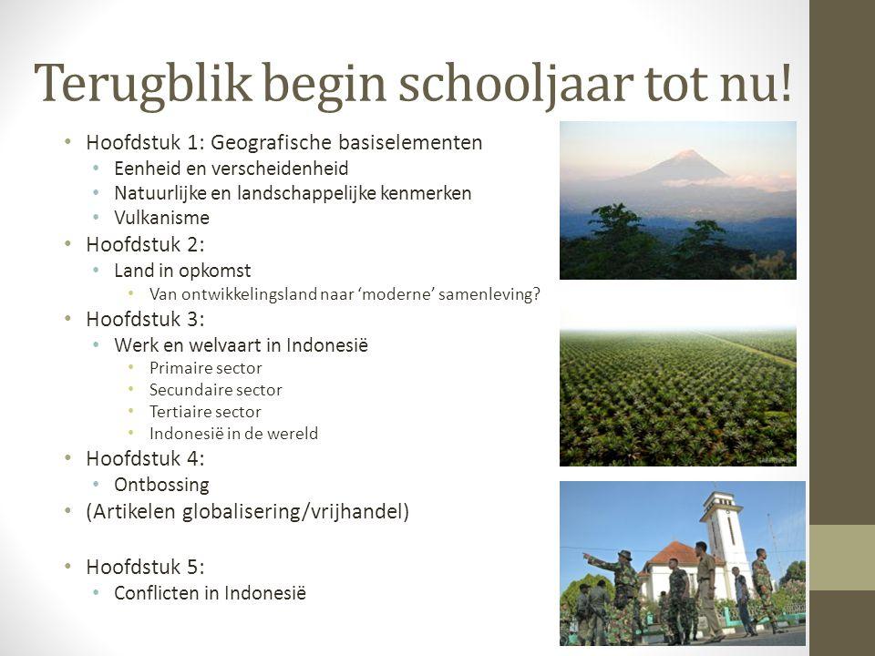 Terugblik begin schooljaar tot nu! Hoofdstuk 1: Geografische basiselementen Eenheid en verscheidenheid Natuurlijke en landschappelijke kenmerken Vulka