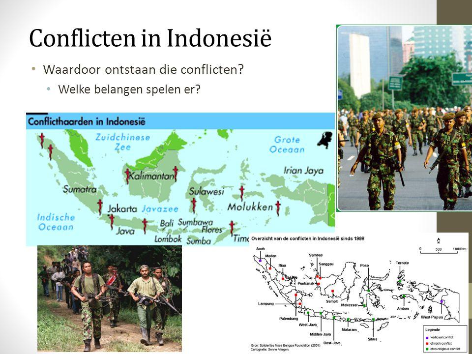 Etnische conflicten Culturele (religieuze) conflicten (conflict gericht tegen de staat)