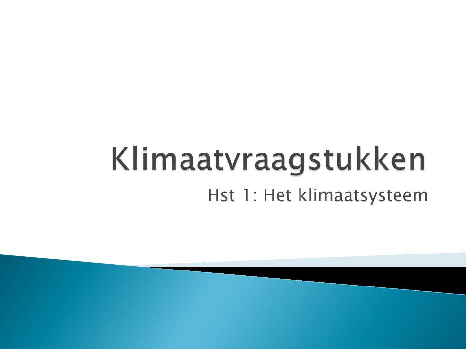 Hst 1: Het klimaatsysteem