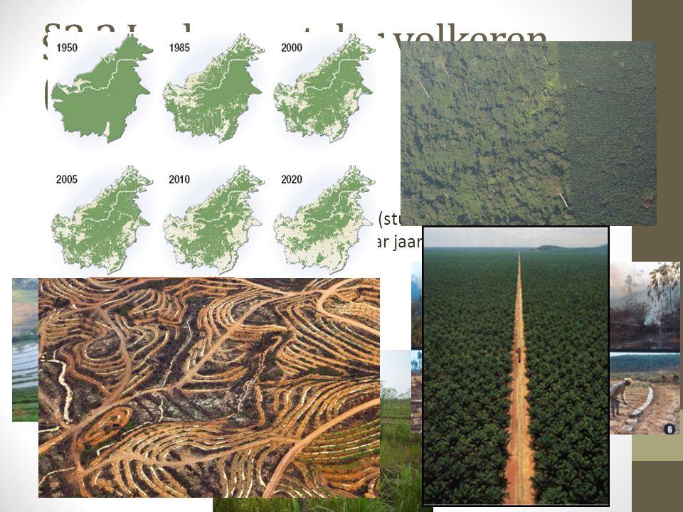 §2.2 In de vaart der volkeren (vervolg) In de landbouw: Sawa's Tegalans Ladangbouw: Nomadische landbouw (stukken oerwoud afbranden en bewerken, naar e