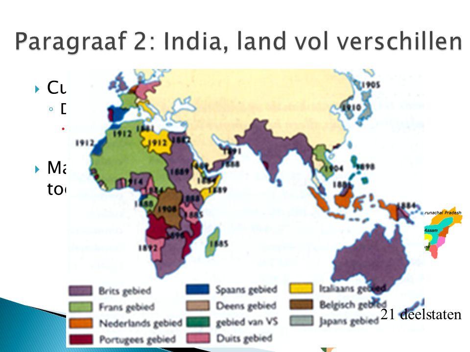  Cultureel mozaïek ◦ De echte Indiër bestaat niet.